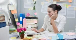 Managing paperwork piles - organizing and filing - blog post