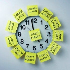 time management reminder stickies