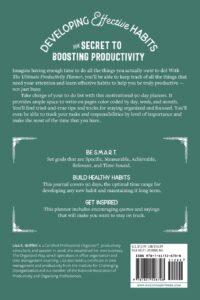 Build healthy, productive habits - book back